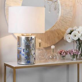 Table Lamp - B22 40W 650mm Gold and White