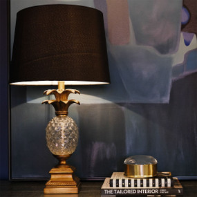 Table Lamp - B22 40W 660mm Antique Gold and Black