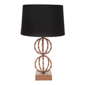 Table Lamp - B22 40W 670mm Antique Gold and Black