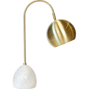 Table Lamp - B22 40W 590mm Brass and White