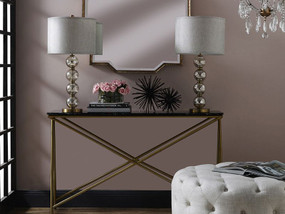 Table Lamp - B22 40W 740mm Brass and Clear