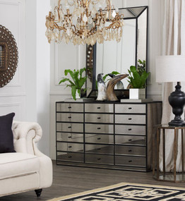 Chest With 12 Drawers - Satin Black BRN