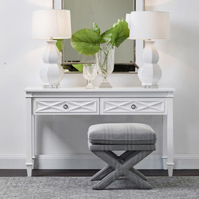 Table With Drawers - Satin White PLN