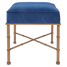 Stool - Blue and Antique Gold CLR