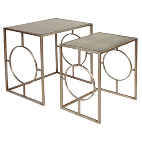 Nesting Side Tables - Set of Two Antique Gold MLR