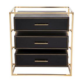 Bedside Table - Gold and Black VGB