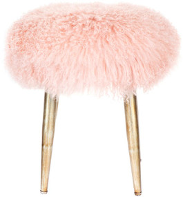 Stool - Pink and Antique Gold DXS