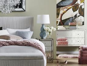 Bedside Table - Antique Silver Handles KRY