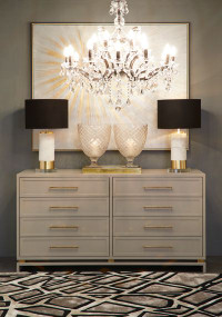 Chest of Drawers - Grey and Pearl