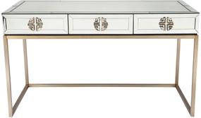 Mirrored Desk - Antique Brass Handles RCH