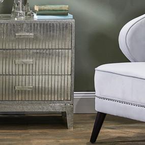 Bedside Table - Antique Silver FNC