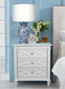 Bedside Table - White PLB