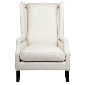 Arm Chair - Natural Linen and Black EMP