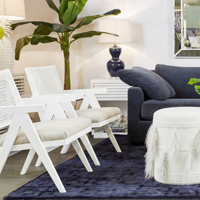 Arm Chair - White and Natural Linen IPL