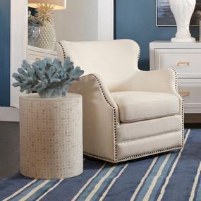 Swivel Arm Chair - Ivory ATN
