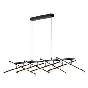 Pendant Light - 64W 2720lm IP20 3000K 1000mm Black