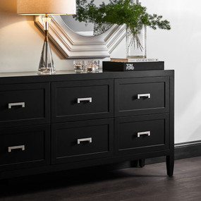 Chest of Drawers - Black and Silver SLM