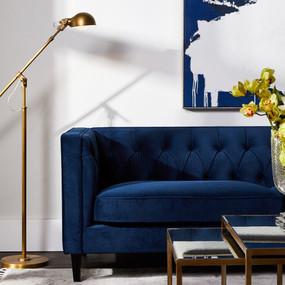 Sofa - Navy Velvet and Black TXD