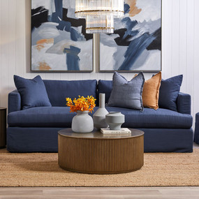 Sofa - Navy Linen BKS