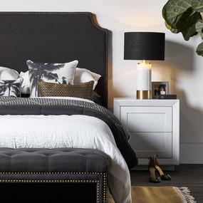 Bedside Table - White BLN
