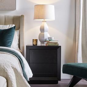 Bedside Table - Black BLN
