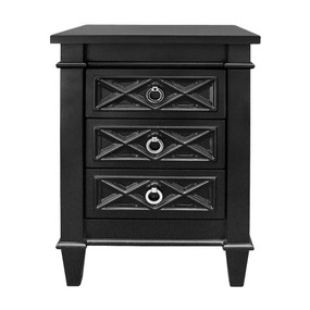 Bedside Table - Black and Silver PLT