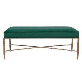 Bench - Green Velvet and Antique Gold CLR