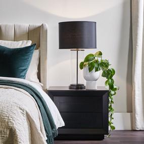 Bedside Table - Black BLM