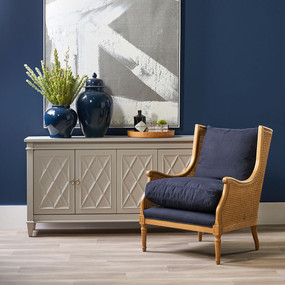 Arm Chair - Natural and Navy HVN