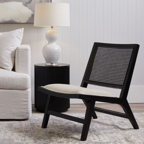 Chair - Black and Natural Linen PLM
