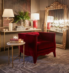 Floor Mirror - Antique Gold ELZ