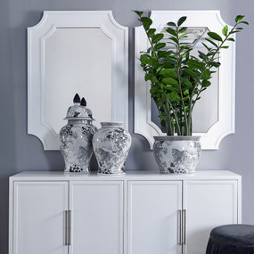 Wall Mirror - White BNG