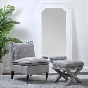 Floor Mirror - White BGL