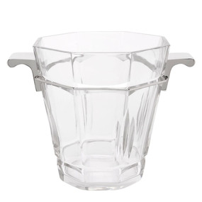 Ice Bucket - Clear and Nickel MDN