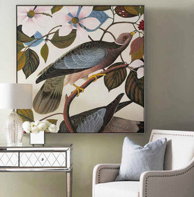 Painting - Vanilla, Blush, Blue and Antique Silver BND