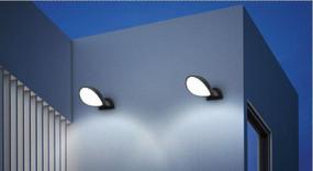 Wall Light - 10W 430lm IP65 3000K 185mm Dark Grey