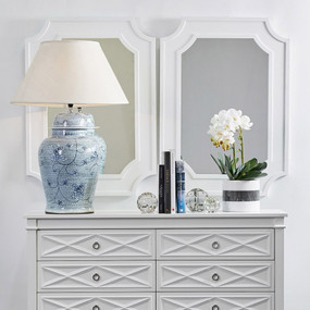 Table Lamp - E27 40W 970mm Blue and White