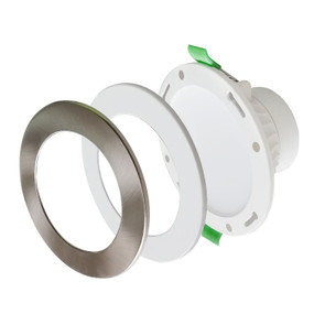LED Downlight - Dimmable 10W 950lm IP44 Tri Colour 112mm White Round