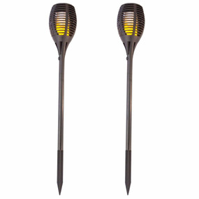 Solar Spike Light 2 Pack - 35lm IP65 3528K 840mm Black