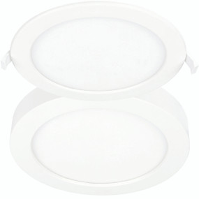Downlight - Recessed or Surface Mounted 12W 1000lm Tri Colour 175mm Non-Dimmable