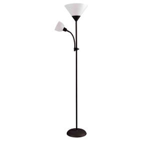 Floor Lamp - E27/E14 100W 1750mm Black and White