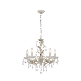 Chandelier - E14 200W 1900mm Cream Brushed Gold