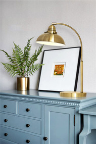 Table Lamp - E14 40W 490mm Weathered Brass