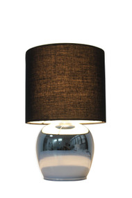 Table Lamp - E14 40W 290mm Black and Chrome
