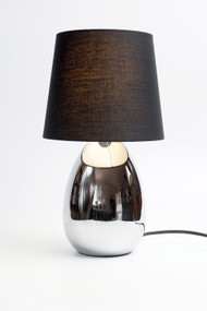 Table Lamp - E14 40W 320mm Chrome and Black