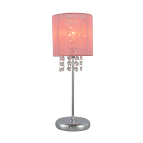 Table Lamp - E14 40W 400mm Pink and Chrome