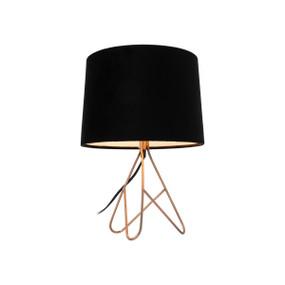 Table Lamp - E14 40W 390mm Copper and Black