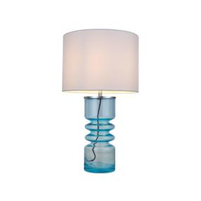 Table Lamp - E14 40W 490mm Aqua and White