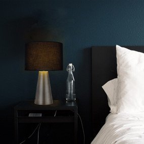 Table Lamp - E14 40W 380mm Antique Brass and Black