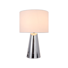 Table Lamp - E14 40W 380mm Chrome and White